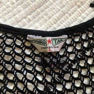 Hard Tail Tops - Black mesh tank top